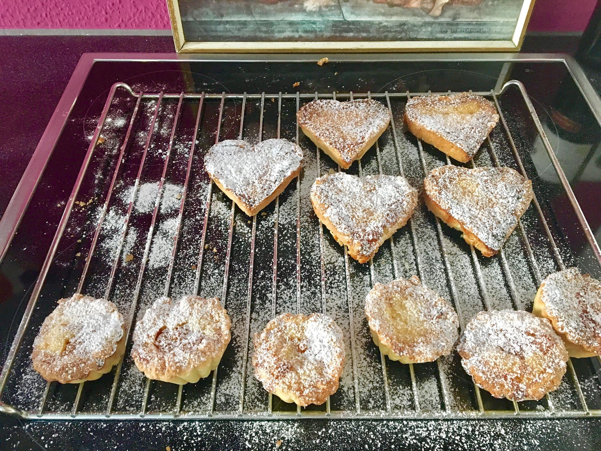Plätzchen auf Ofenrost